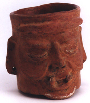 Mayan Demon Head Beaker