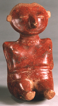 Chinesco Style (Type B) Nayarit Sculpture of a Seated Pregnant Woman