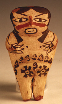 Nazca Terracotta Sculpture of a Woman