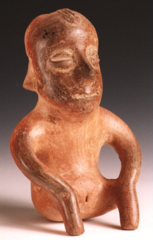 Pihuamo Style Colima Terracotta Sculpture of a Seated Woman