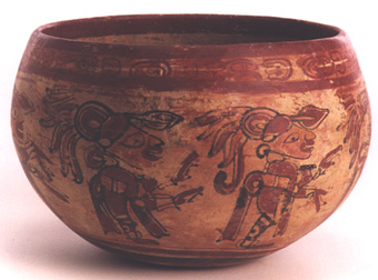 Polychrome Bowl Depicting A Religious Procession
