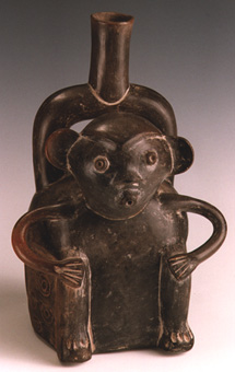 Cupisnique Seated Monkey Vessel