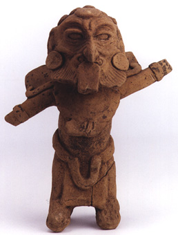 Mayan Sculpture of a Standing Male