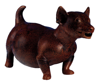 Colima Terracotta Dog Effigy
