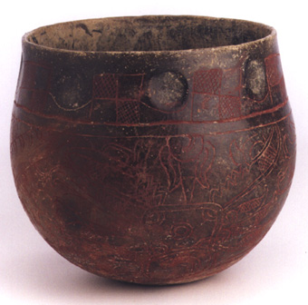 Mayan Blackware Incised Bowl