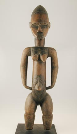 Bete Wooden Sculpture of a Woman
