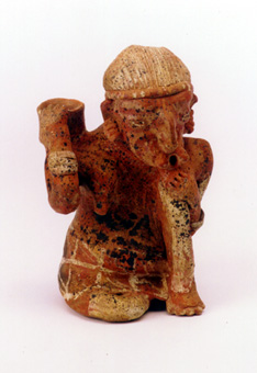 Ixtlán del Rio Style Nayarit Terracotta Sculpture of a Woman Holding a Bowl