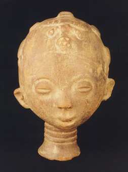 Akan/Asante Terracotta Head