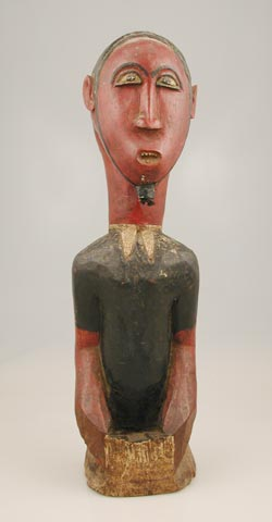 Baule Colonial Polychrome Sculpture of a Man