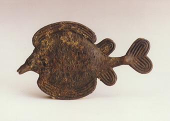 Asante Brass Goldweight in the Form of a Fish