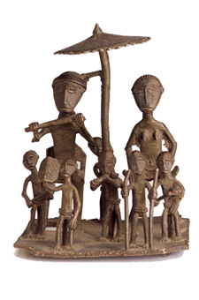 Asante Brass Sculpture of a Ceremonial Group