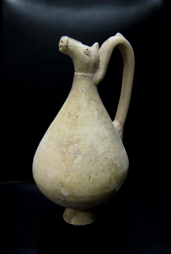 Terracotta Ewer with Zoomorphic Spout