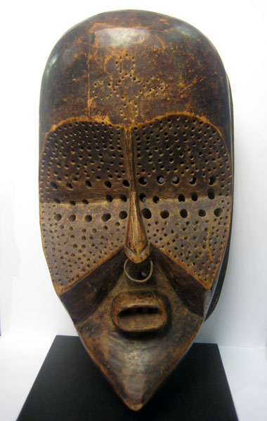 Lulua Wooden Ceremonial Mask