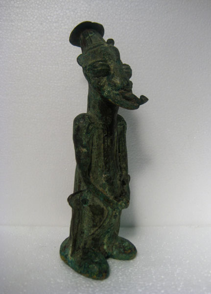 Yoruba Brass Onile Sculpture of a Man