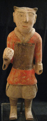 Han Painted Pottery Soldier