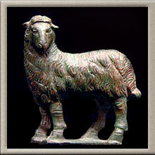 Roman Bronze Figure of a Sheep