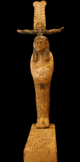Wooden Polychrome Sculpture of Ptah-Sokar-Osiris