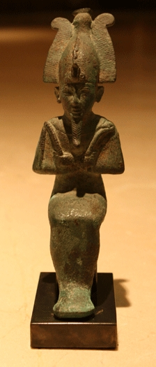 Egyptian Bronze Seated Osiris