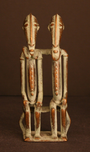 African Art / Dogon Bronze Primordial Couple
