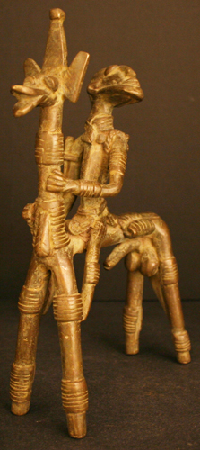 Dogon Bronze Horse and Rider