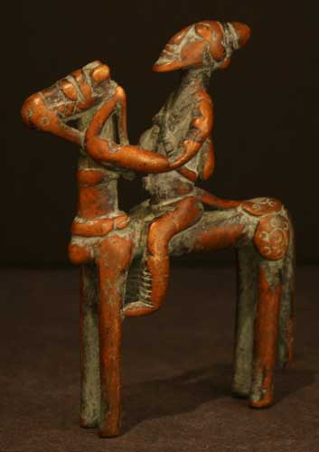 African Art / Dogon Bronze Horse and Rider