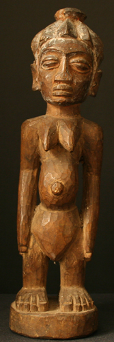 Yoruba Wooden Sculpture of a Woman