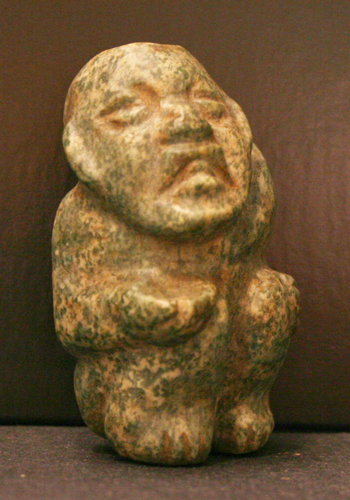 Olmec Jade Sculpture Depicting a Hunchback