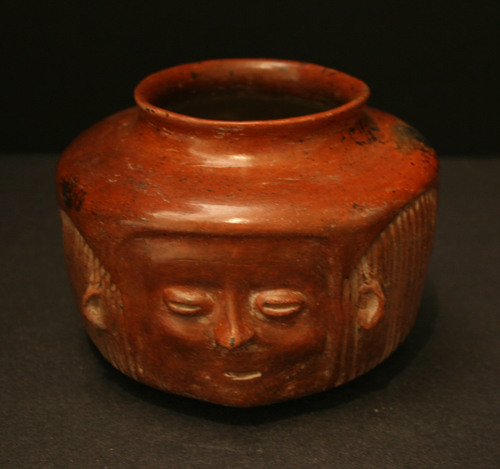 Colima Terracotta Head Vessel