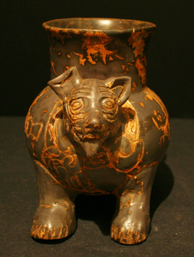 Toltec Plumbate Vessel in the Form of a Dog