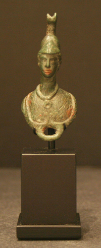 Roman Bronze Applique Bust of Athena / Minerva