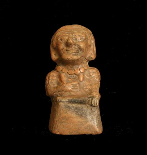 Mayan Terracotta Sculpture of a Woman