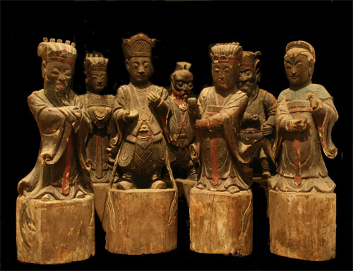 Chinese Art / Qing Set of Seven Taoist Deities