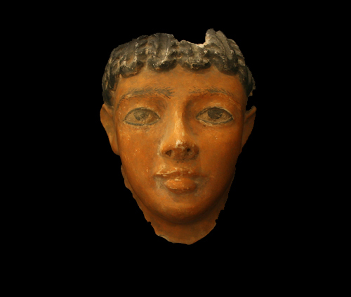 Romano-Egyptian Fayum Plaster Death Mask