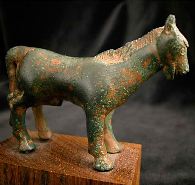 Iberian Bronze Sculpture of a Donkey or Mule