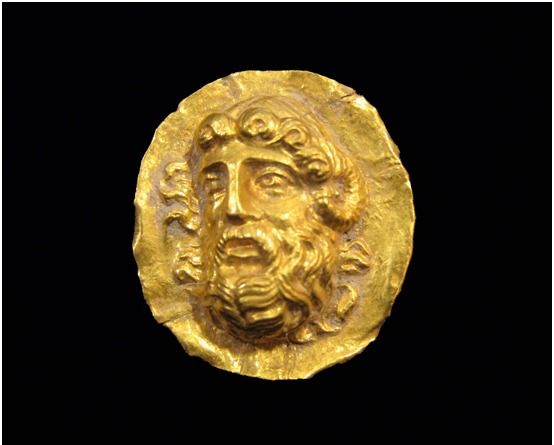 Hellenistic Gold Applique Depicting Zeus Ammon