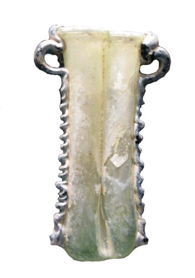 Roman Double Cosmetic Glass Tube