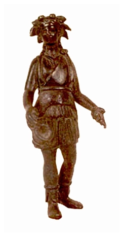 Roman Bronze Sculpture of a Lar