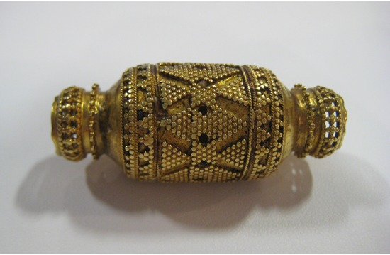 Fatimid Loose Gold Bead with Applied Filigree Decoration