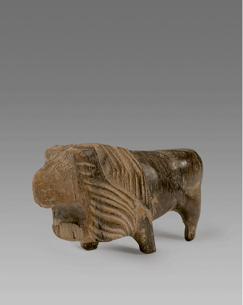 Wood Lion Figurine