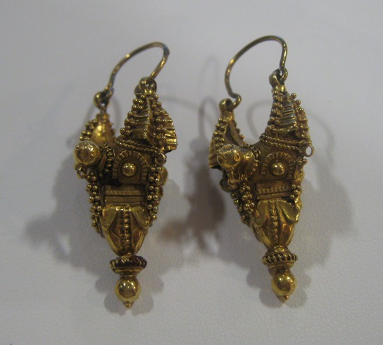 Pair of Safavid Gold Earrings