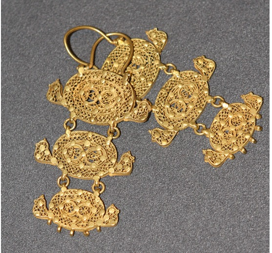Pair of Islamic Gold Earrings