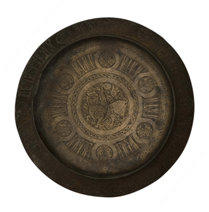 Bronze Alloy Engraved Tray