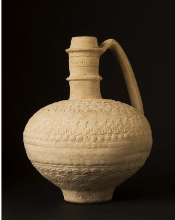 Whiteware Jug with Multi-banded Decoration