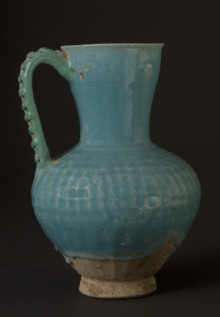 Fritware Jug with  Turquoise Glaze