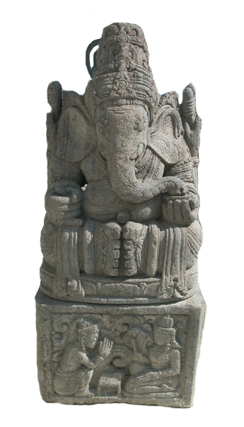 Indonesian Basalt Sculpture of Ganesha