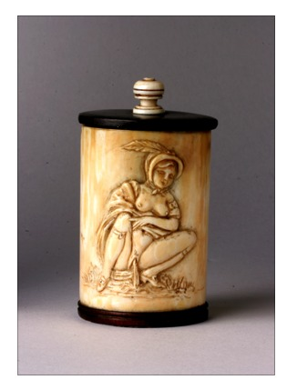 Ivory Box Bearing an Erotic Scene