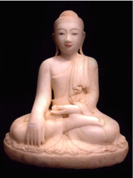 Mandalay Seated Marble Buddha