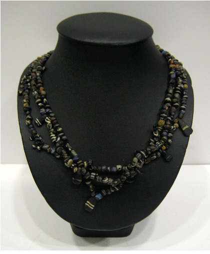 Mixed Black Glass Bead Necklace