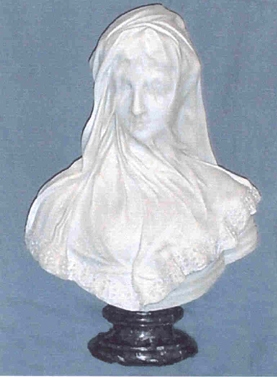 Marble Bust of a Veiled Maiden