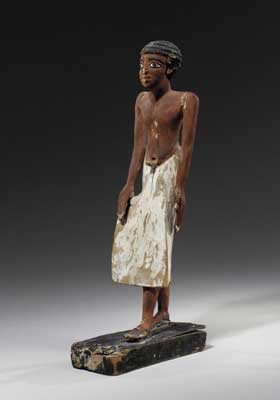 Wooden Polychrome Sculpture of a Man
